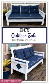 diy outdoor sofa free woodworking plans pinspiration mommy