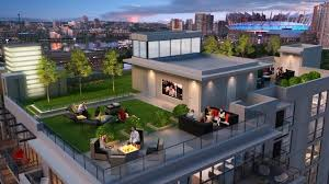 keefer block u0027s rooftop deck offers residents views and entertainment