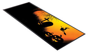 pumpkin halloween design bar runner great for home bar shop