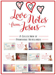 notes from jesus a collection of free printable note cards