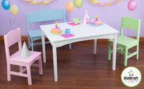 kidkraft nantucket table and chairs kidkraft nantucket pastel table with bench and 2 chairs 26112