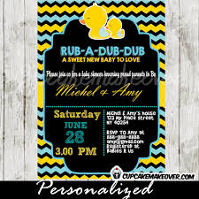 duck baby shower invitations chalkboard yellow blue rubber duck baby shower invitation