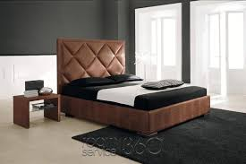 patrick designer contemporary leather bed by cattelan italia