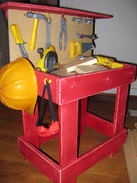 Boys Wooden Tool Bench Bench Work Bench For Toddlers The Home Depot Kids Toy Work Bench