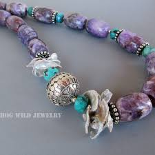 turquoise pearls bracelet images Handcrafted artisan amethyst pearl turquoise women 39 s necklace jpg