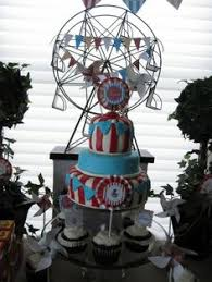 circus birthday cake would do without flowers and elephant big