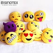 Home Decor Throw Pillows Aliexpress Com Buy Emoji Decorative Throw Pillow Stuffed Smiley