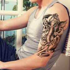 1pcs elephant beauty makeup mens temporary tattoos for women