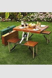 Diy Folding Wooden Picnic Table by Best 25 Portable Picnic Table Ideas On Pinterest Vintage