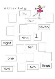 english worksheets number names