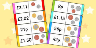 new british coin value loop cards money numeracy maths coins