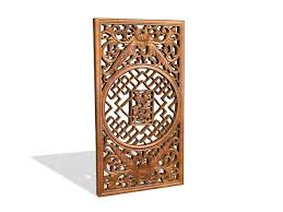 Wood Carving Free Download by Chinese Wood Room Divider Panel 3d Model 3ds Max Files Free