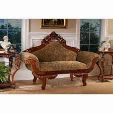 victorian oak chaise lounge antique carved heart love daybed