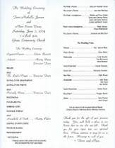 formal wedding program wording wedding renewal ceremony programs