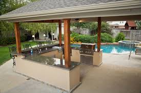 Outside Patio Covers by Outdoor Kitchen And Patio Cover In Katy Tx Traditional Patio