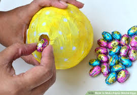 paper mache easter eggs how to make papier mâché eggs with pictures wikihow