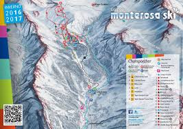 Piste Maps For Italian Ski by Skiing Monterosa Monterosa Ski Lifts Terrain Snow Trail Maps