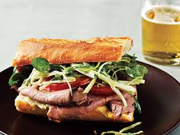 roast beef sandwiches with watercress slaw recipe myrecipes