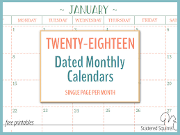 printable weekly calendar for 2018 2018 dated monthly calendars single page edition