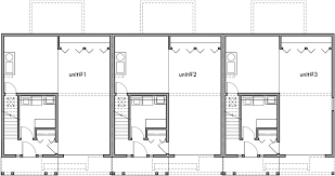 narrow home floor plans triplex house plans 3 bedroom town houses 25 ft wide house plan