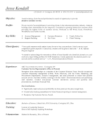 Manager Sample Resume Resume Examples For Customer Service Position Resume Template
