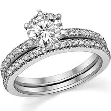 diamond wedding sets moissanite diamond wedding set 0 38ct moissaniteco