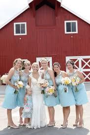 robin egg blue bridesmaid dresses pastel wedding at crooked willow farms farming
