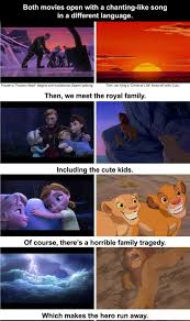 Frozen Movie Memes - frozen and the lion king are the same movie