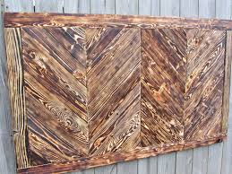 crafted chevron wood wall made from reclaimed pallet wood