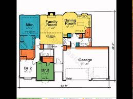 One Story Floor Plans With Bonus Room by One Story House Plans House Plans One Story 4 Bedroom House
