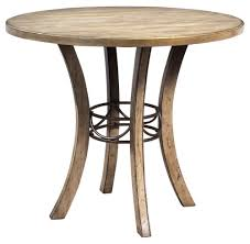 Amazoncom Round Wood Counter Height Table Tables - Counter height dining table base