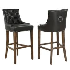 uptown grey leather counter stool free shipping today