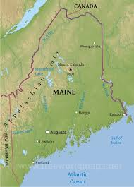 map of maine physical map of maine