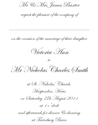 wedding invitation wording including son of