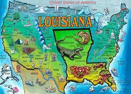 louisiana map in usa louisiana usa map painting by kevin middleton