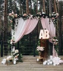 Wedding Entrance Backdrop 30 Sweet Ideas For Intimate Backyard Outdoor Weddings Wedding