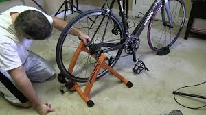 conquer indoor bicycle cycling trainer exercise stand setup youtube