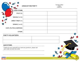graduation sign graduation classroom party sign up sheet homeroom