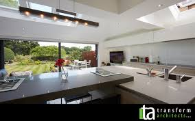 modern open plan kitchen lighting with led ceiling lights norma