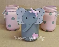 jar centerpieces for baby shower elephant baby shower centerpiece etsy