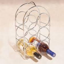 copper rose gold u0026 silver effect 6 bottle wine rack new