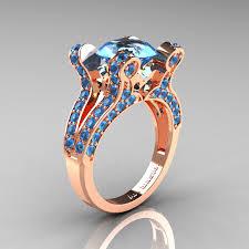 topaz engagement ring vintage 14k white gold 3 0 ct london blue sapphire diamond