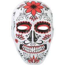 Day Of The Dead Mask Day Of The Dead Sugar Skull Face Mask Halloween Big W