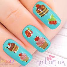 cupcake water decal nail stickers nail art uk