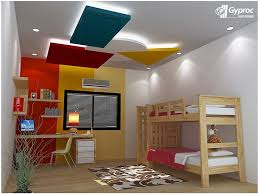 cool pop false ceiling design for nursery or kids room with led