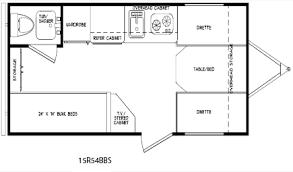 30 Ft Travel Trailer Floor Plans 16 Ft Cozy Travel Trailer Floor Plan Wagon Construction