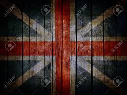 Englang Flag England Flag Painted On Very Old Dark Brown Wooden Planks