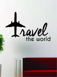 Home Quote Explorer by Travel The World Airplane Quote Decal Sticker Wall Vinyl Decor Art