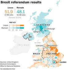 Where Is Wales On The Map This Map Shows Britain U0027s Striking Geographical Divide Over Brexit