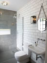 micro concrete flooring wraps up the shower wall with an